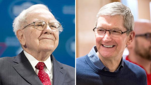Warren Buffett và Tim Cook
