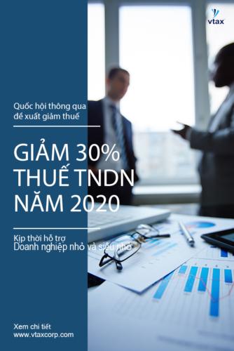 Giảm 30% thuế TNDN năm 2020, kịp thời hỗ trợ doanh nghiệp nhỏ, siêu nhỏ